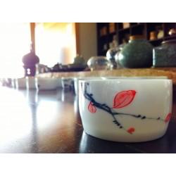 手繪圓筒茶杯