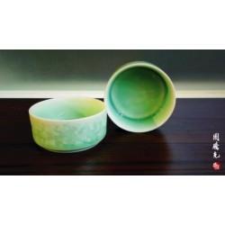 青瓷影青筒狀杯