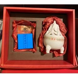 白瓷博山爐沉香禮盒