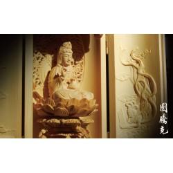 東陽黃楊木手工觀音佛龕