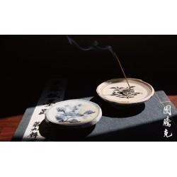 青花/青瓷碟