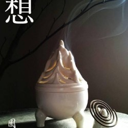白瓷博山香爐