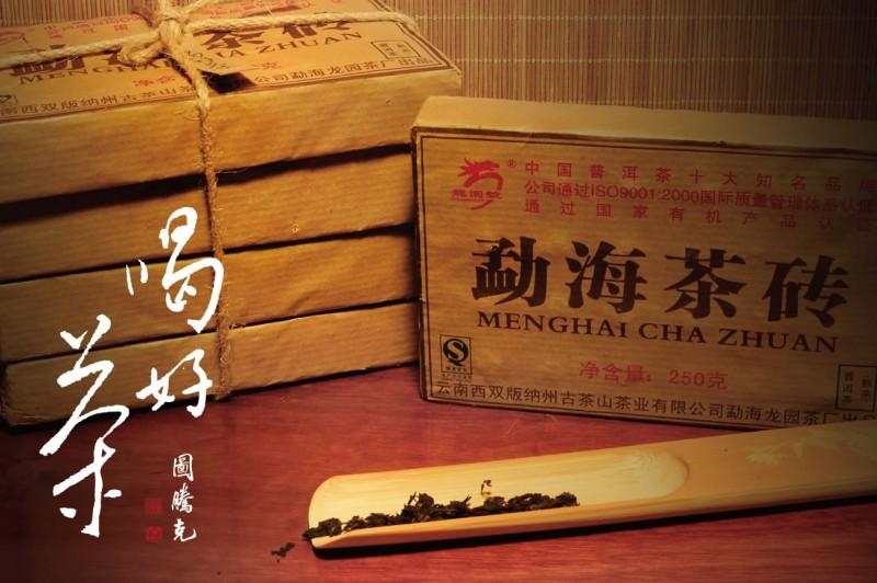 【藏茶品飲|08年勐海熟茶磚 】