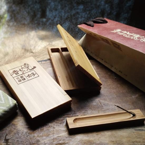 竹製3.5寸盒套組 附3克添香